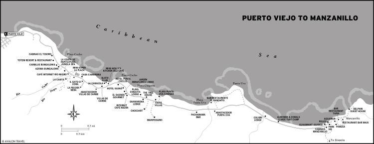 Puerto-Viejo-to-Manzanillo-Map
